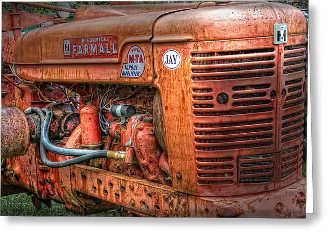 International Tractor Greeting Cards - Farmall Tractor Greeting Card by Bill  Wakeley