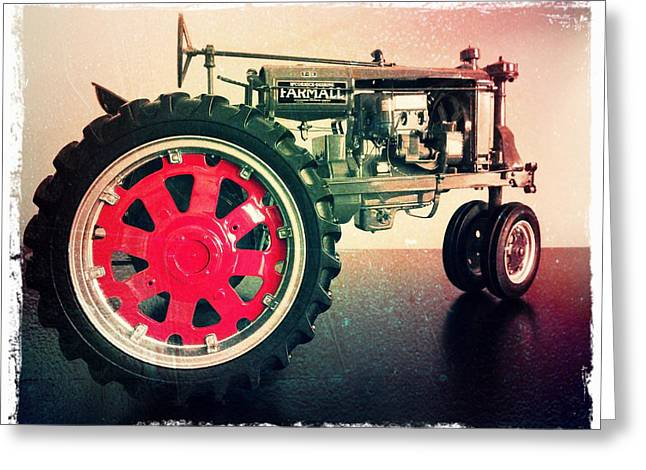 Franklin Farm Greeting Cards - Farmall Tractor Greeting Card by Scott Kingery