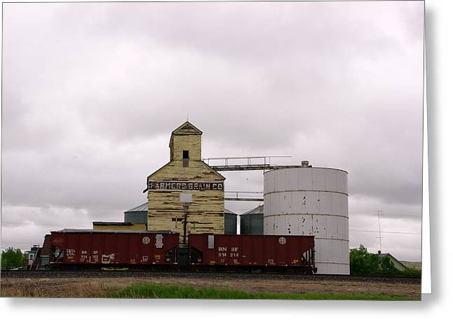 Grain Bin Greeting Cards - Farmer Grain Co  Greeting Card by Jeff  Swan