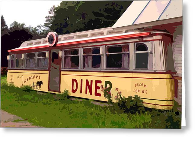 Farmers Diner Greeting Card by Jean Hall
