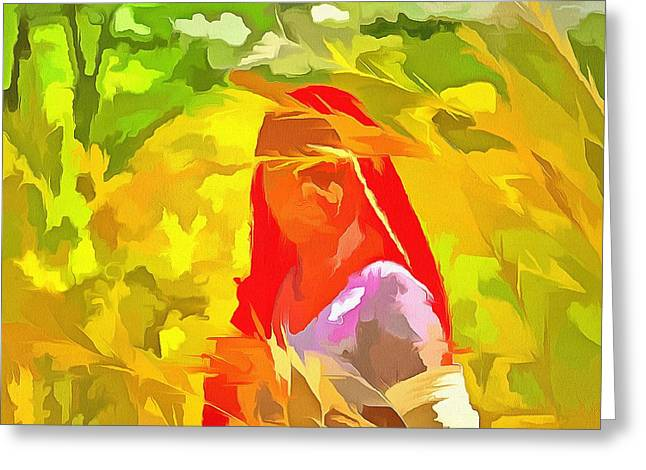 Farmers Field Greeting Cards - Farmers Fields Harvest India Rajasthan 8c Greeting Card by Sue Jacobi