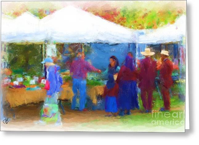 Buy Local Greeting Cards - Farmers Market 1063 20141003 Greeting Card by Julie Knapp