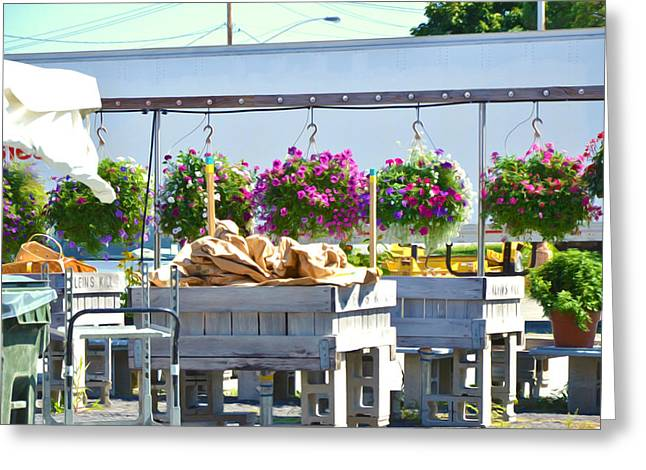 Farmers Market 3 Greeting Card by Lanjee Chee