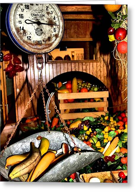 Fresh Produce Greeting Cards - Farmers Market Greeting Card by Dan Sproul