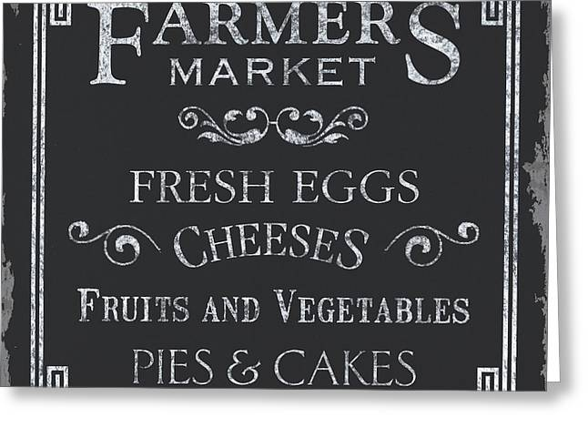 Pie Greeting Cards - Farmers Market Greeting Card by Debbie DeWitt