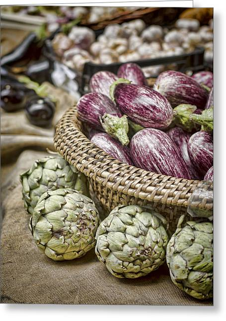 Borough Market Greeting Cards - Farmers Market Finds Greeting Card by Heather Applegate