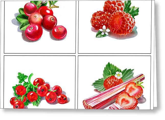 Strawberry Jam Greeting Cards - Farmers Market Gifts Red Vitamins Greeting Card by Irina Sztukowski
