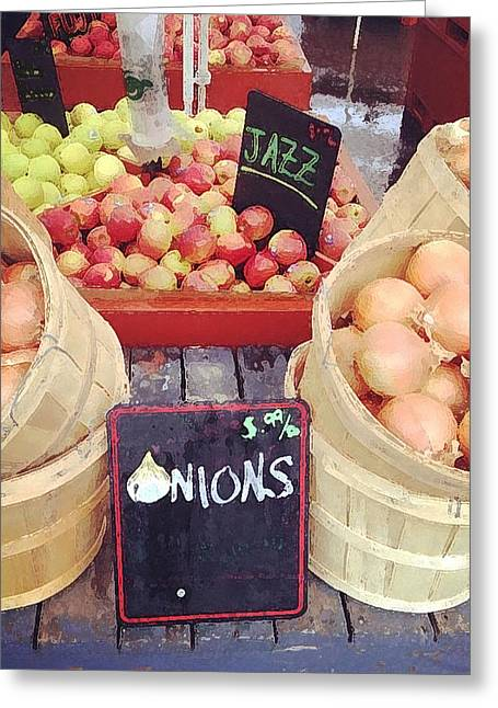 Farm Stand Greeting Cards - Farmers Market Greeting Card by J Marielle
