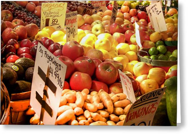 Farmers Market Greeting Card by KAREN WILES