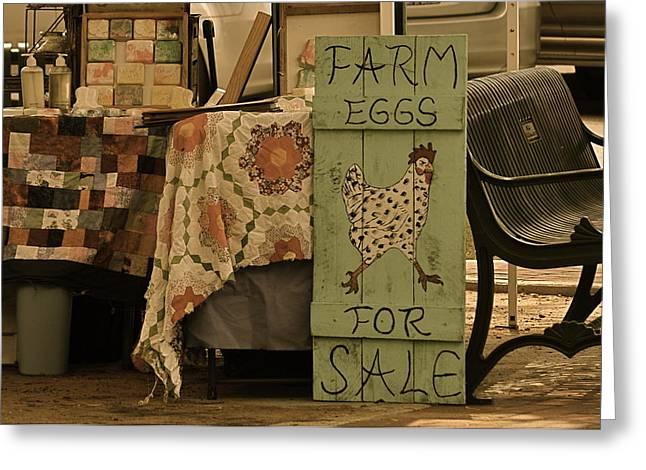 Farmers Market Greeting Card by Linda Dyer Kennedy