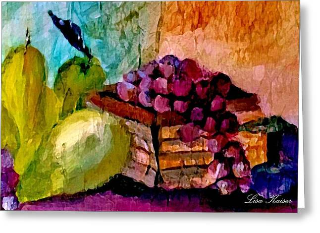 Grapes Greeting Cards - Farmers Market Greeting Card by Lisa Kaiser