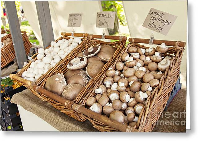 Farmers Market Mushrooms Greeting Card by Sophie McAulay