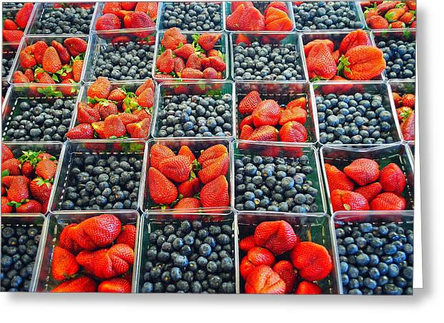 Grocery Store Greeting Cards - Farmers Market Greeting Card by Frozen in Time Fine Art Photography