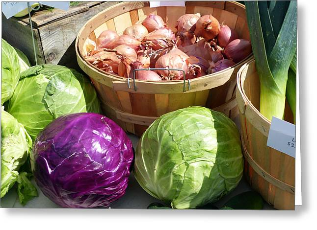Farm Stand Greeting Cards - Farmers Market Stand 2 Greeting Card by Susan Colby