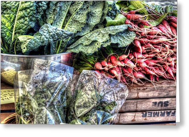 Local Food Greeting Cards - Farmers Market - Stowe Vermont Greeting Card by Geoffrey Coelho