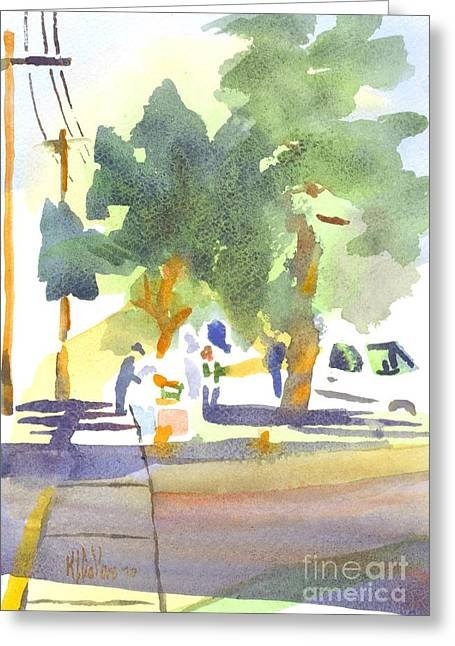 Fresh Produce Greeting Cards - Farmers Market VI Greeting Card by Kip DeVore