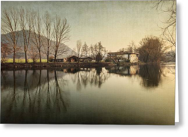 Farmhouse Greeting Card by Alfio Finocchiaro
