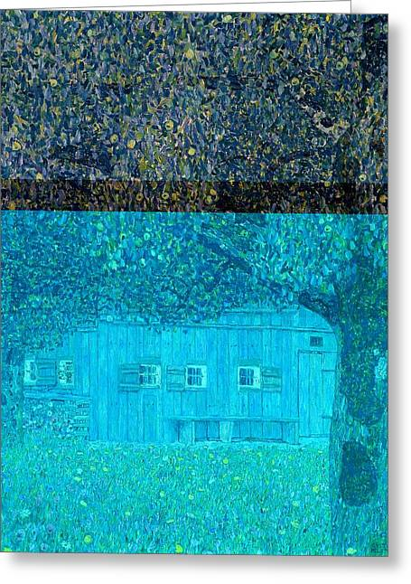 Shack Greeting Cards - Farmhouse in Upper Austria Greeting Card by Gustav Klimt