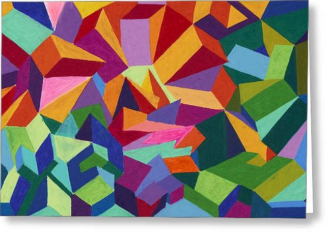 Abstract Geometric Pastels Greeting Cards - This is a Farmhouse Greeting Card by Sean Corcoran