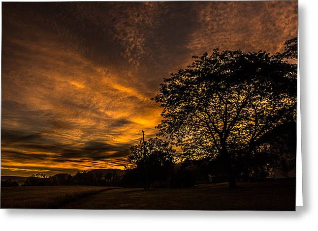 Jahred Allen Photography Greeting Cards - Farmhouse Sunrise Greeting Card by Jahred Allen