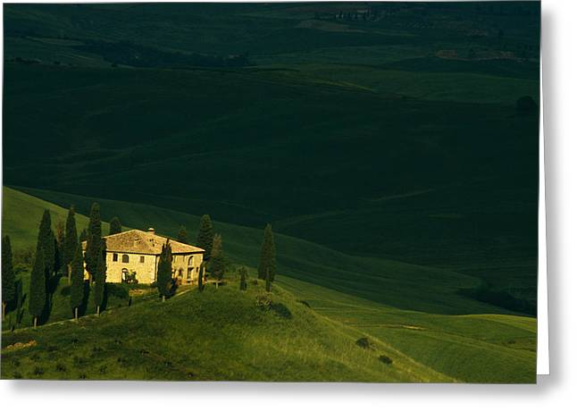 Farmhouse Tuscan Greeting Card by Andrew Soundarajan