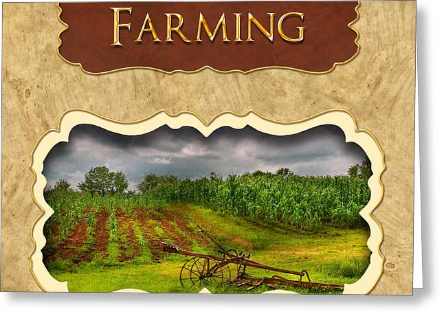 Farming and country life button Greeting Card by Mike Savad