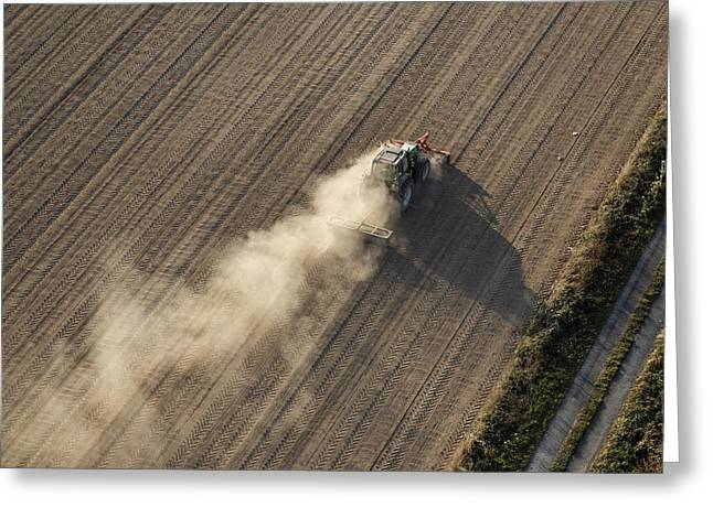 Agronomy Greeting Cards - Farming, Chavagnes En Paillers Greeting Card by Laurent Salomon