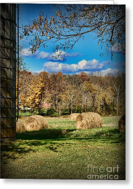 Harvest Time Photographs Greeting Cards - Farming - Its Harvest Time Greeting Card by Paul Ward