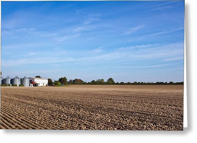 Fens Greeting Cards - Farming landscape Greeting Card by Tom Gowanlock
