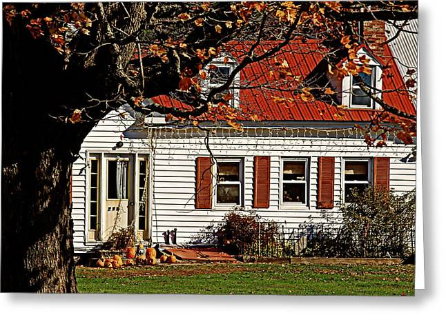 Maine Farmhouse Greeting Cards - Farming Thanksgiving Greeting Card by Catherine Melvin