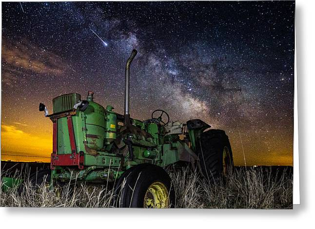 Light Pollution Greeting Cards - Farming the Rift 2 Greeting Card by Aaron J Groen
