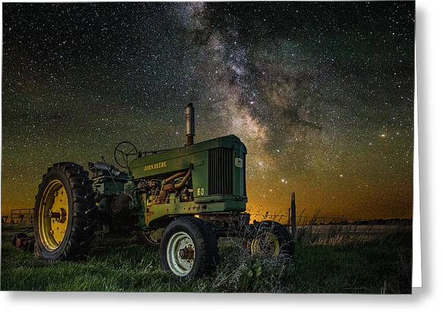 Glow Greeting Cards - Farming the Rift 3 Greeting Card by Aaron J Groen
