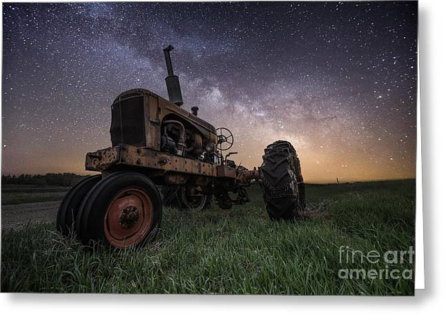 Rift Greeting Cards - Farming the Rift 4 Greeting Card by Aaron J Groen