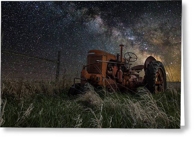Rift Greeting Cards - Farming the Rift Greeting Card by Aaron J Groen