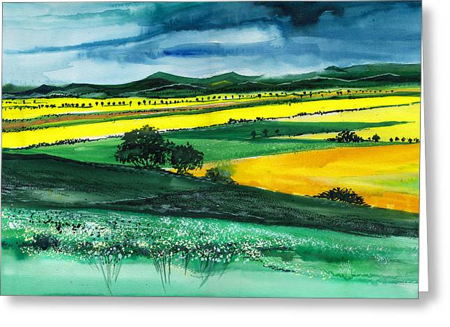 Farmland 1 Greeting Card by Anil Nene