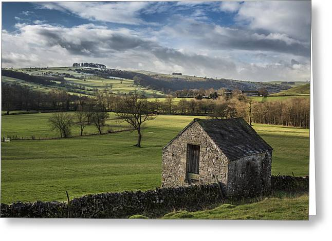 Peak District Greeting Cards - Farmland in the peaks Greeting Card by Chris Fletcher