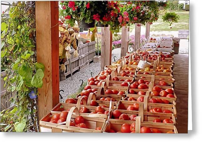 Farmstand Greeting Card by Janice Drew