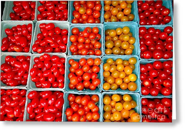 Farmstand Tomatos Greeting Card by Ed Weidman