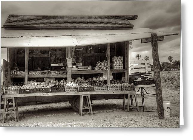 Farm Stand Greeting Cards - Farmstand Greeting Card by William Wetmore