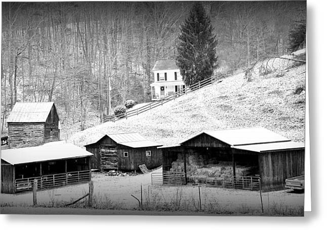Farmstead Amherst County Va. Greeting Card by Todd Hostetter
