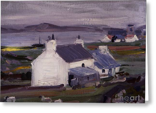 Overcast Day Greeting Cards - Farmsteading Greeting Card by Francis Campbell Boileau Cadell