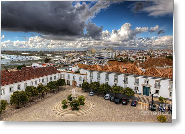 Rio Formosa Greeting Cards - Faro City Greeting Card by English Landscapes