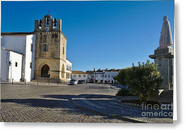 Portugal Greeting Cards - Faro old town center. Algarve Portugal Greeting Card by Angelo DeVal