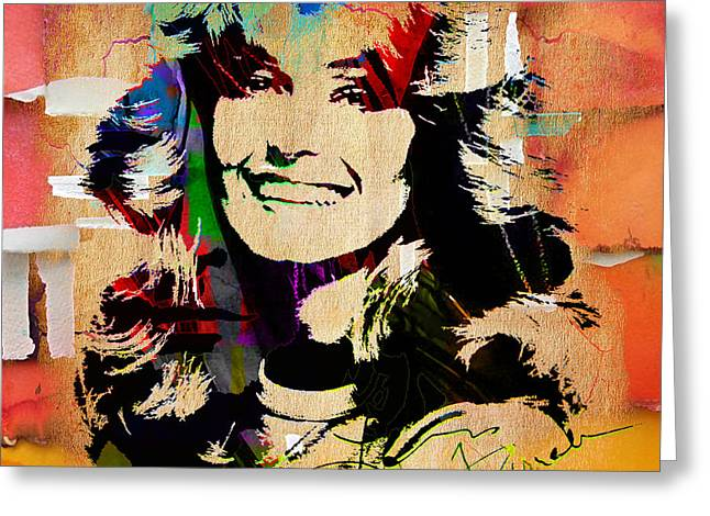 Angel Greeting Cards - Farrah Fawcett Collection Greeting Card by Marvin Blaine