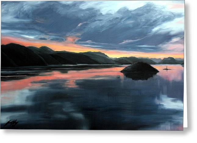 Farsund Sunrise Greeting Card by Janet King