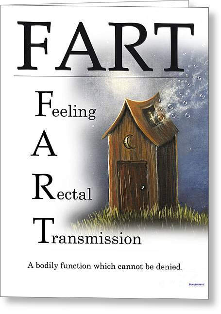 Large Poster Greeting Cards - FART Buseyism by Gary Busey Greeting Card by Buseyisms Inc Gary Busey