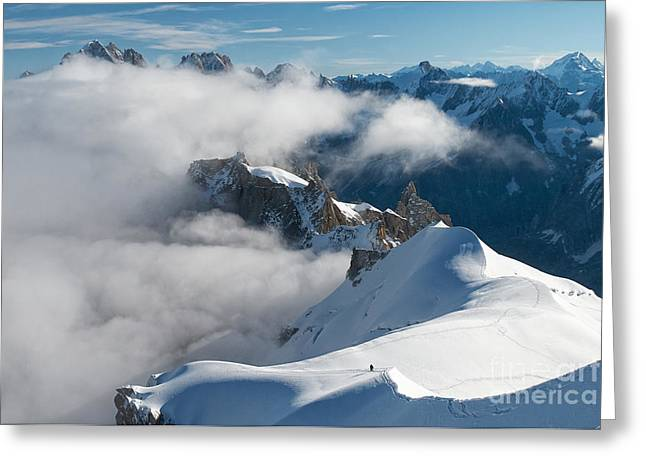 Midi Greeting Cards - Fascinating Alpine world Chamonix Greeting Card by Juergen Klust