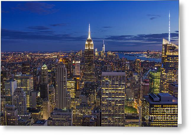 Midtown Greeting Cards - Fascinating City Lights Greeting Card by Marco Crupi