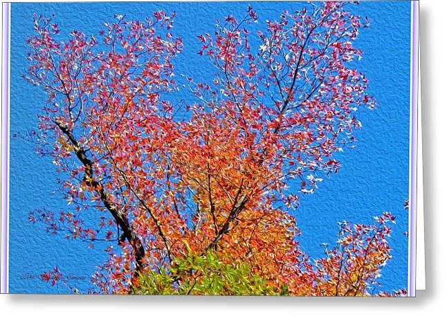 Fascinated Digital Art Greeting Cards - Fascinating Fall Greeting Card by Sonali Gangane