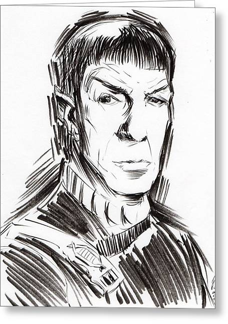 Trekkie Greeting Cards - Fascinating II Greeting Card by Tu-Kwon Thomas